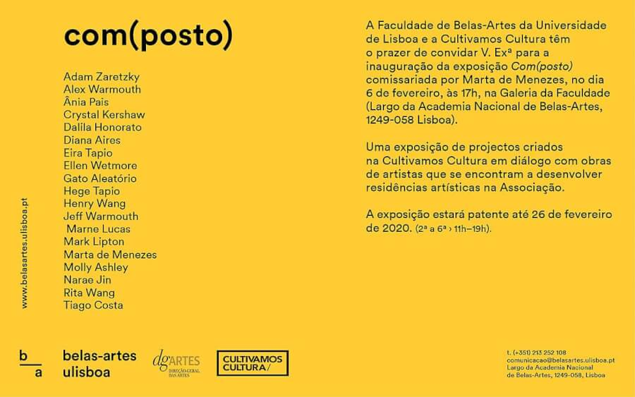 Participation of Assistant Professor Dalila Honorato at the exhibition Com(posto)